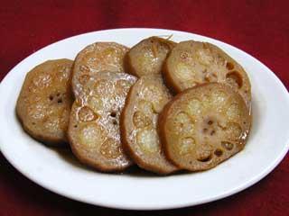 糖水藕餅【蓮根のもち米詰め】
