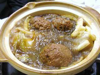 紅焼獅子頭【肉団子と白菜の鍋】
