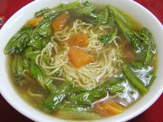 A菜蕃茄麺【トマト入りラーメン】